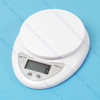 Free Shipping White 5kg Mini Electronic Digital Kitchen Weight Scale