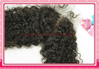 Mongolian Virgin hair Kinky Curly Human Hair Lace Top Closure 4x4 Free Shipping bleached knots with baby hair