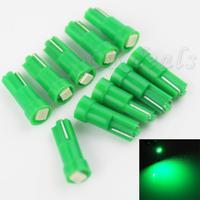 10pcs T5 0.14W 8000K 9-Lumen 3528 SMD LED Green Light Bulbs