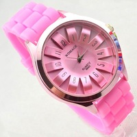 Hot sale New Fashion Women dress watch Designer Ladies sports brand silicone watch jelly watch quartz watch men Free Shipping