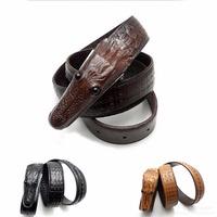 New arrival Men Belts antique Genuine Leather Black Top crocodile buckle top alligator design free shipping  GS19