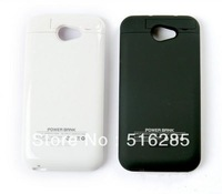 New 2200mAh White External Back Up Battery Charger Cover Charge Case for HTC One X, Wholesale-in Chargers