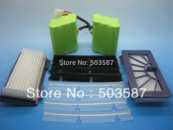 Set of 2pcs 3.8Ah NiMH battery+4pcs blades+4pcs brushes+ 2pcs HEPA filters for Neato XV-21 Vacuum Cleaner! Free shipping!