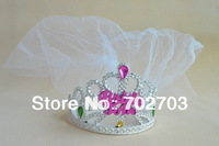 10pcs/lot Free Shipping Novelty Bachelor Party tiara With White Veils