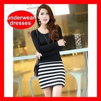 2014 Hot Selling Elegant Long Sleeve Short Bandage Autumn Dress Women  254