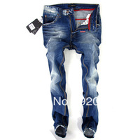 Free Shipping Wholesale&Retail Top Brand Men's Jean High Quality Fashion Denim Pants Straight Mid Pant Jean DS2 Jean For Men
