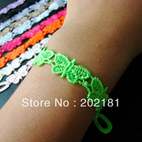 Free shipping Hot Selling 100% Good Quality muti-color LITTLE BUTTERFLY  Fashion italian lace bracelet Italy lace bracelet