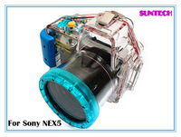 Free shipping Best quality underwater 40M waterproof water-tight camera case for Sony NEX 5 long shot(18-55mm)
