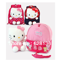 Newest Design!! NEW 2014 Baby Girl Cartoon Hello Kitty school bags Cute toy backpacks Baby knapsack  Free shipping