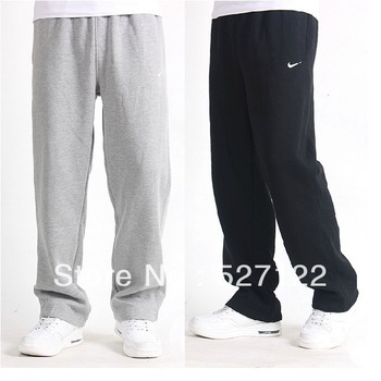Free shipping  fashion 2013 spring brand men's sports leisure trousers loose pants long pants cotton fleece pants high quality