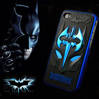Newest Creative Design 3D Batman Facial Hard Cover Case for iPhone 4 4S