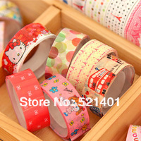 Freeshipping! New vintage tower cartoon lace tape/ colorful stick tape/stationery Office Adhesive Tape/Wholesale