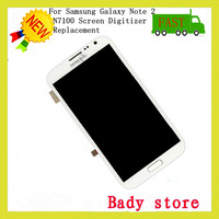 100% Original New For Samsung Galaxy Note 2 N7100 LCD with Touch Screen Digitizer Assembly-White
