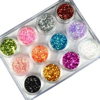 Saint cuicanduomu davia nail art glitter powder paillette mixed gradient finger 12 box