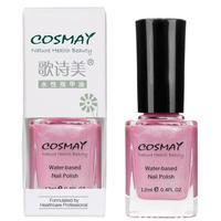 Cosmay water based nail polish oil 12ml natural fresh small nail art glitter cs03 cherry powder