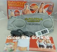 Free Shipping  velform Sauna Massager 2014 NEW Velform Professional Slimming Belt 110v /220V Body Massager As Seen On TV