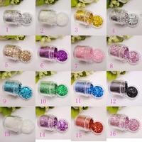 Nail art supplies mixed glitter paillette decoration finger laser powder 10g
