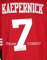 Free Shipping #7 Colin Kaepernick  Men's Game American  Football Jersey,Embroidery and Sewing Logos,Size S--3XL, Can MIx Order