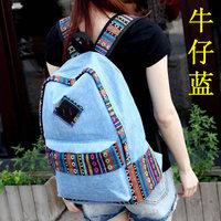 Female brief canvas handbag middle students school bag casual travel bag