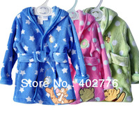 Retail Infant bathrobes STAR pattern Baby Bathrobe, Kid robe boys girls cartoon prints nightgown bathrobe for baby  TLZ-O0019