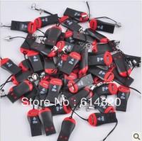 200ps whistle USB 2.0 T-flash memory card reader,TFcard ,micro SD card reader  free shipping