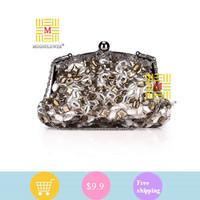 Famous designer luxury gold evening bag, Punk skull rivet rhinestones clutches, UK flag party bags/ handbag/ clutch bags