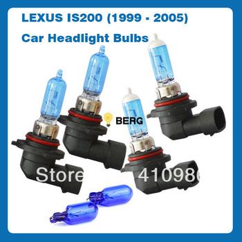 Free Shipping HB3 HB4 W5W SUPER WHITE XENON UPGRADE Car Bulbs Set 12v Lexus IS200 6PCS