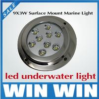 2x highest waterproof IP68 DC 12v 27W LED marine lights underwater boat Fountain Pool bulbs aluminum
