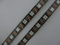 Mini Order 5M 60 LEDs/M 5050 RGB WS2811 IC  ws2812b LED Digital Non-waterproof Addressable Color Strip DC5V # Black PCB