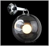 "Dia 25cm / 9.8"" Miconos Glass wall Lamp"