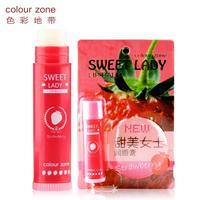 Sweet colour zone women's lip balm nude color natural fruit flavor