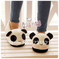 Panda heel slippers, at home floor slippers, lovers gift