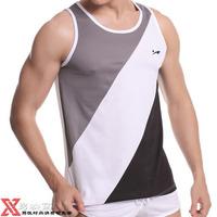 HOT LJ Genuine: Free shipping wholesale and retail 100% TERYLENE sexy fashion leisure breathable mesh men's O-Neck Vest: LJe0a