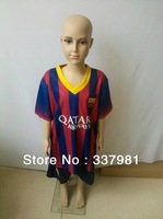 Free Shipping  thai quality 13/14 kids child football shirts youth jerseys ronaldo 7 kaka 8 messi 10 torres 9