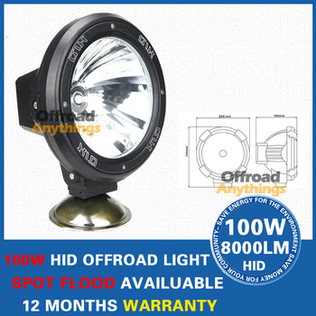 8 Pcs  7 Inches 100W HID Xenon Driving Spot Offroad Light JEEP Off Road SUV 4WD 55W xenon hid head light