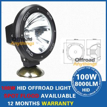 8 Pcs  7 Inches 100W HID Xenon Driving Spot Offroad Light JEEP Off Road SUV 4WD 55W xenon hid head light