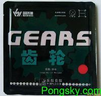 Free Shipping Guaranteed 100%  Sanwei Rubber GEARS Table Tennis Table Rubbers Sanwei table tennis blade