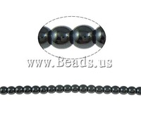 Free shipping!!!Non-magnetic Hematite Beads,2013 new european and american style, Non magnetic Hematite, Round, black, A Grade