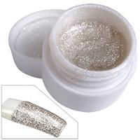 2014 New UV Builder Gel Silver Glitter Nail Art glitterTips Decoration Free Shipping