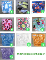 10 color waterproof Older children cloth diaper Nappy nappies diaper diapers (1pcs nappies+1pcs insert) 25-45kg