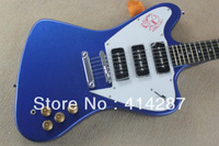 free shipping new arrival metal blue thunderbird electric guitar