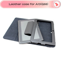 Wholesales 3pcs/lot Original 7 inch Leather case tablet case for A13 Q88 TABLET PC