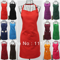 6X  Free shipping women lady ren Aprons with Pocket Waiter Butcher Bib Kitchen Craft Chefs Cooking Catering BBQ Bar Plain