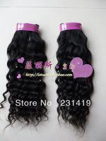 free shipping brazil hair extension 14cun 35cm 100g  black brazil hair extension