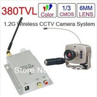 1.2GHz Wireless Mini Camera + Wireless Video&Audio Receiver CCTV Camera Kit Free Shipping