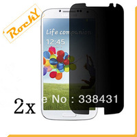 2X New CLEAR LCD Anti-Spy Privacy Screen Protector Guard Cover Film For Samsung Galaxy S4 IIII/ I9500(Free shipping)