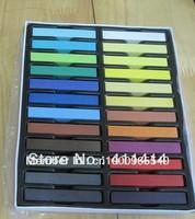 Factory Price 4800PCS/LOT 24 Colors/set  Salon Fashion Hot Fast Non-toxic DIY Temporary Pastel Hair Dye Color Chalk/Freeshipping