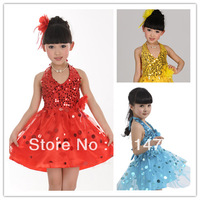 Summer child gilrs performance costume latin dance wear girls tutu dress free shipping