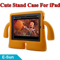 2013 HOT Selling Lovely Children Kids Safe Proof Thick Foam Stand Cover Case for iPad 2/3/4 Free Shipping