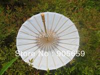 (30 pcs/lot) Handmade 23.6 Inches Bamboo Ribs Plain White Paper DIY Painting Umbrellas For Wedding